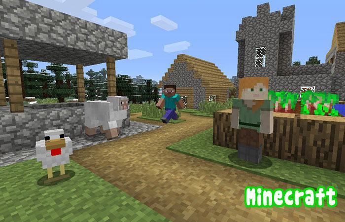 Game hay cho trẻ trên android, iOS Minecraft
