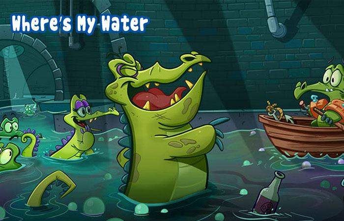 Game hay cho trẻ trên iphone Where's My Water